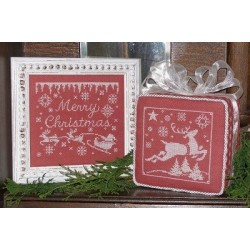 1 COLOR MERRY CHRISTMAS Waxing Moon Designs