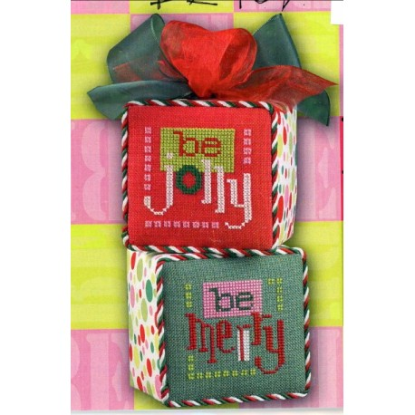 BE BLOX BE JOLLY BE MERRY ORNAMENTS K34 Model Lizzie Kate