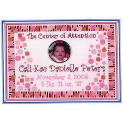 Center of Attention Birth Announcement DebBees Designs