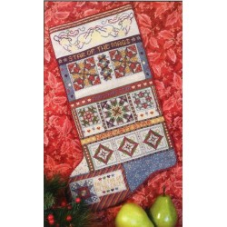 CHRISTMAS STARS QUILT STOCKING Rosewood Manor