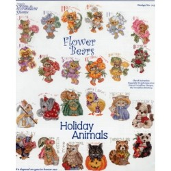 Flower Bears The Vermillion Stitchery