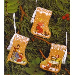 GINGERBREAD MINI STOCKINGS Victoria Sampler