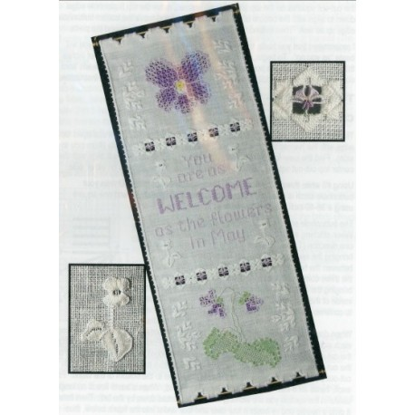 A VIOLET WELCOME CAROL PEDERSEN DESIGNS