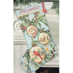 Enchanted Ornaments Stocking Dimensions