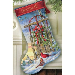 Christmas Sled Stocking Dimensions