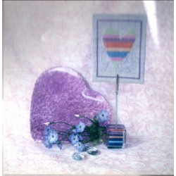 Striped Heart Desk Topper A Needle and Fred