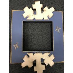 Snowflake 4 x 4 in Mount Forest Frame
