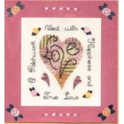 Loving Patchwork Heart Brittercup Frame