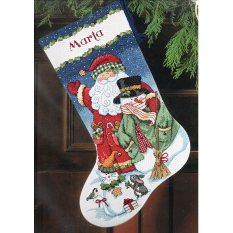 Santa and Snowman Stocking 8714