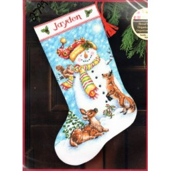 Winter Friends Stocking Dimensions