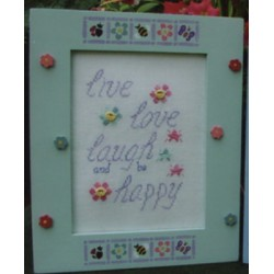 Live Love Laugh warm fuzzies Poppy Kreations Frame