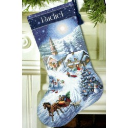 Sleigh Ride at Dusk Stocking Dimensions