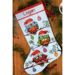 holiday hooties stocking Dimensions