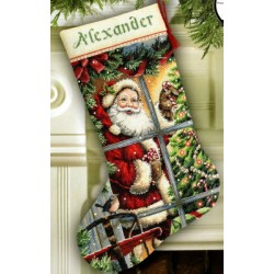 candy cane santa stocking Dimensions