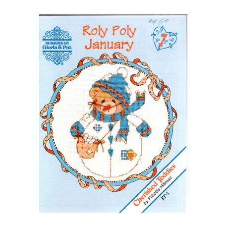 CHERISHED TEDDIES ROLY POLY JANUARY - DECEMER Designs by Gloria and Pat