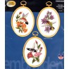 HUMMINGBIRDS SET OF 3 004 0864 Stamped Embroidery Janlynn