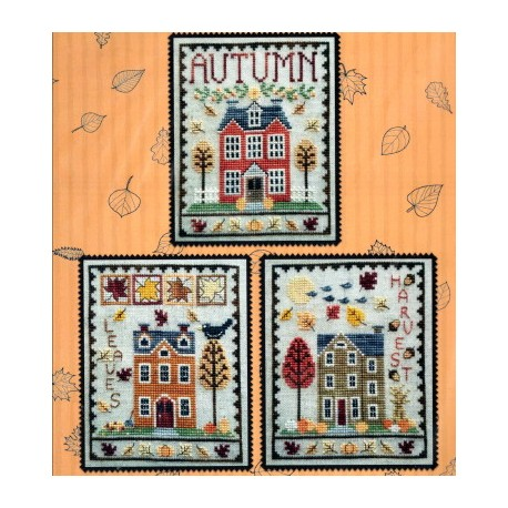 AUTUMN HOUSE TRIO Waxing Moon Designs
