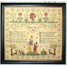 MARTHA JAMES 1844 Hands Across the Sea Samplers