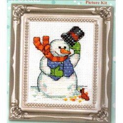 521 SNOWMAN WITH CARDINAL Design Works Crafts