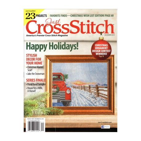 JUST CROSS STITCH MAGAZINE DECEMBER 2019 Just Cross Stitch