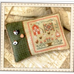 THE ROOSTER AND THE HENS Little House Needleworks