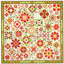 RED FLOWER A DAY COLLECTION Carolyn Manning Designs