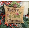 PRIMITIVE MERRY CHRISTMAS PILLOW Abby Rose Designs