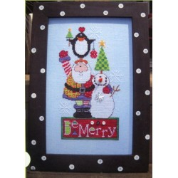BE MERRY PATTERN AND EMBELLISHMENT Amy Bruecken Designs