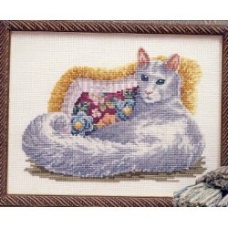 Cat Nap Just Cross Stitch
