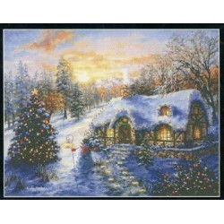 CHRISTMAS COTTAGE Mystic Stitch