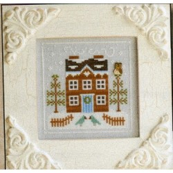 FROSTY FOREST BLUEBIRD CABIN Country Cottage Needleworks