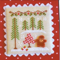GINBERBREAD VILLAGE GINGERBREAD GIRL AND PEPPERMINT TREE Country Cottage Needleworkss