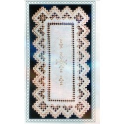 HEART PLACEMAT SATIN STITCHES