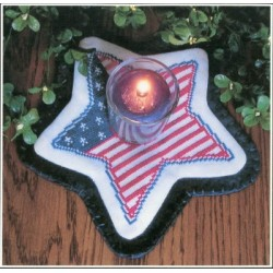 LITTLE CANDLE MATS PATIOTIC STAR PRAIRIE GROVE PEDDLER