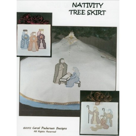 NATIVITY TREE SKIRT CAROL PEDERSEN DESIGNS