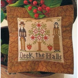 ORNAMENT OF THE MONTH 3 Deck The Halls Little House Needleworks