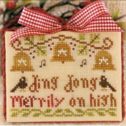 ORNAMENT OF THE MONTH 5 DING DONG MERRILY ON HIGH Little House Needleworks