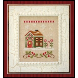 SANTAS VILLAGE CANDY CANE COTTAGE Country Cottage Needleworks