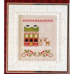 SANTAS VILLAGE REINDEER STABLES Country Cottage Needleworks