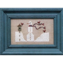 WEE ONE LITTLE SNOWMAN IN THE DRIFTS Heart In Hand 12345