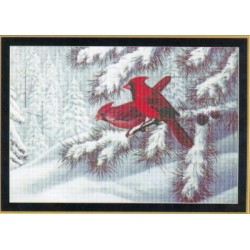 WINTER CARDINALS Mystic Stitch