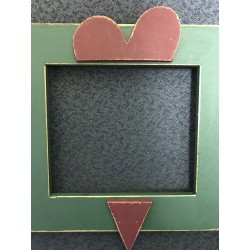 Heart Green and Red 5 x 5 and a half Mount Forest Frame