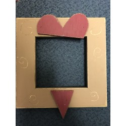 Heart Brown and Red 4 x 4 Mount Forest Frame