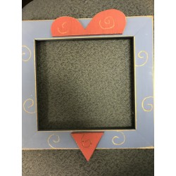 Snowmans Heart 7 and a half x 7 Mount Forest Frame