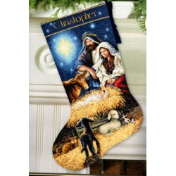 holy night stocking Dimensions