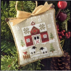 Farmhouse Christmas Little Red Barn - Little House Needleworks