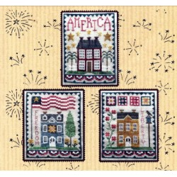 PATRIOTIC HOUSE TRIO 174 Waxing Moon Designs