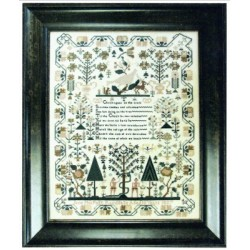 JAND PHILPOTT 1837 AN ADAM AND EVE SAMPLER Shakespeares Peddler