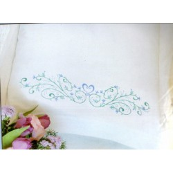 Filigre Scroll Pillow Cases stamped 73202