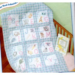 ABC NURSERY QUILT BLOCKS 30066 stamped
